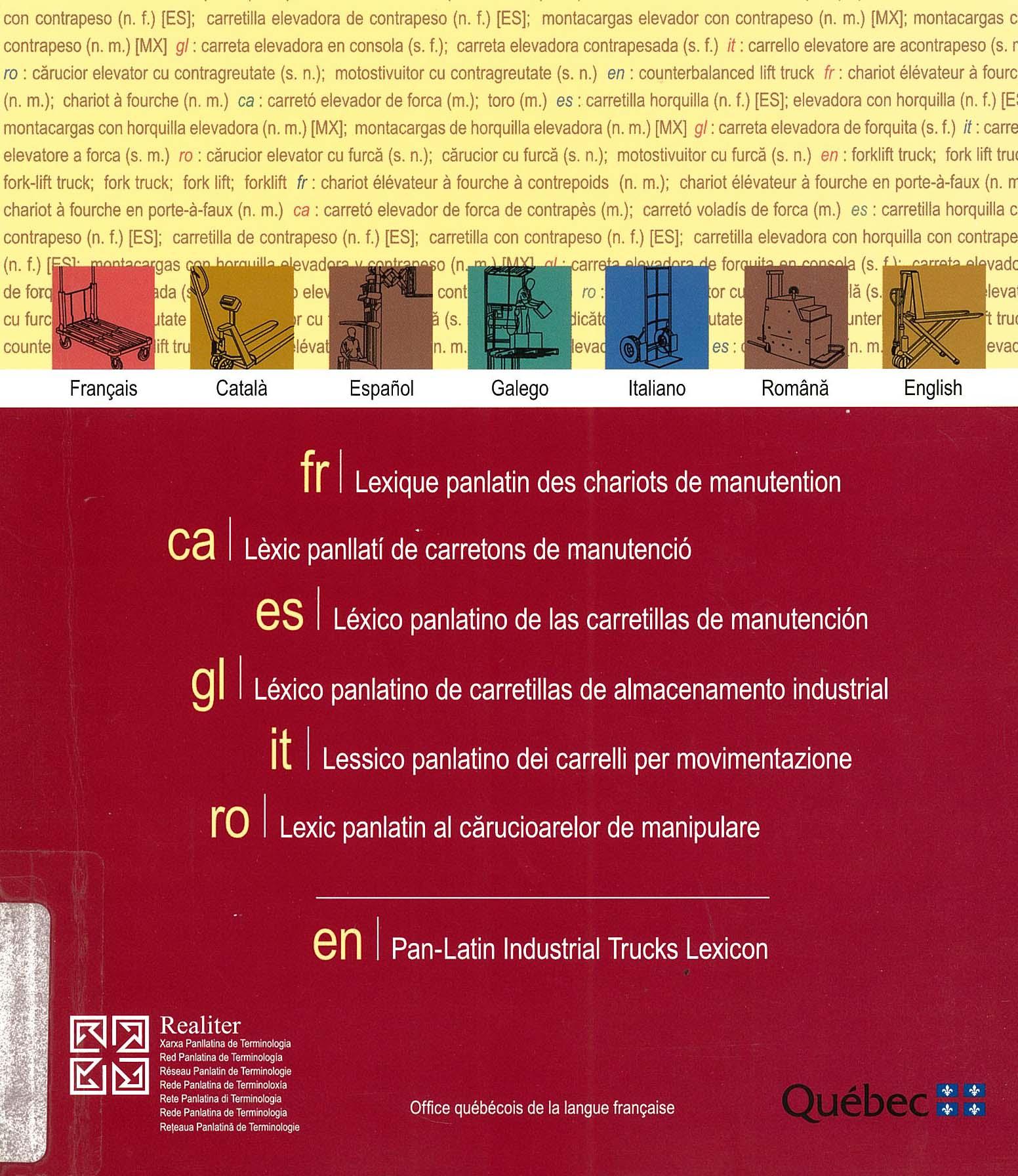 Dictionnaires et encyclop dies g nie industriel - Office de la langue francaise dictionnaire ...